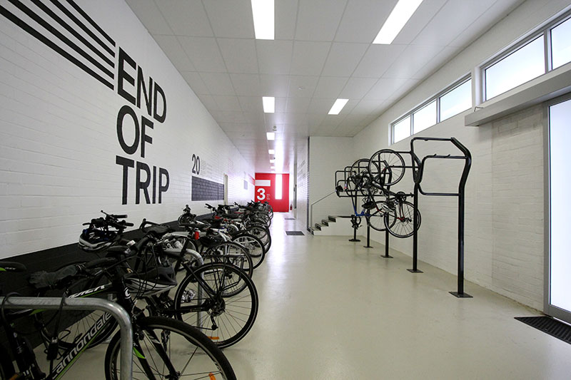 Bike Racks Are Available To All Clients